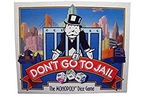 Amazon.com: Don't Go to Jail: The Monopoly Dice Game (1991 ...