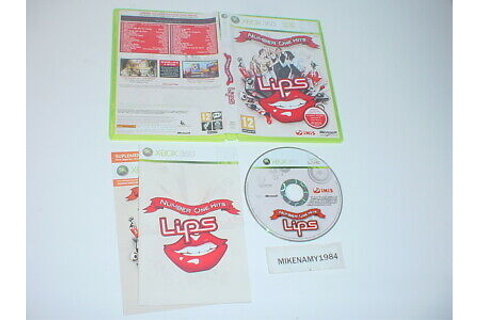 LIPS: NUMBER ONE HITS game (PAL) complete in case w ...