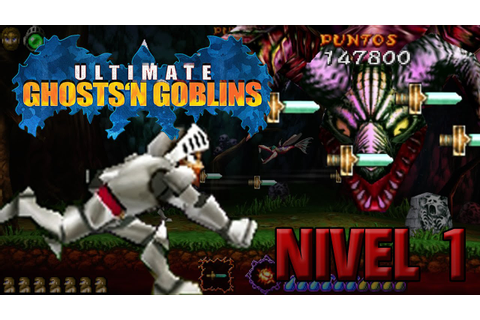 Ultimate Ghosts'N Goblins | PSP GamePlay | Nivel 1 - YouTube
