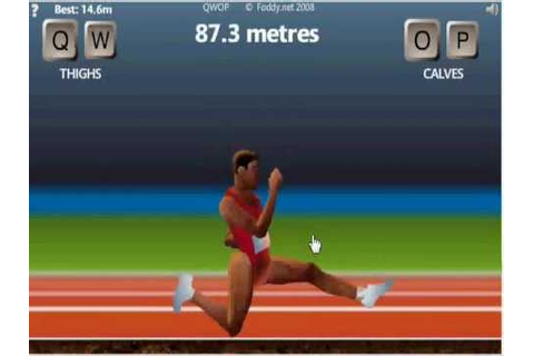 QWOP Impossible Running Game Epic 100m Run! - YouTube