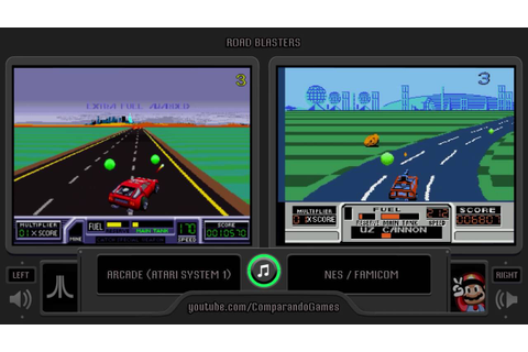 RoadBlasters (Arcade vs NES) Side by Side Comparison - YouTube