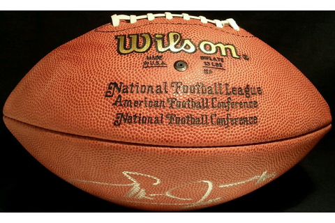 Emmitt Smith autographed NFL game model football - Retired ...