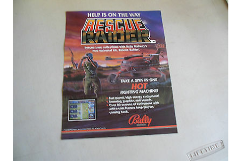 RESCUE RAIDER FOLDED ARCADE video GAME FLYER CFA | eBay