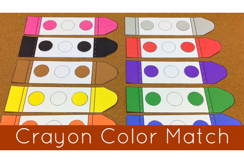 Crayon Color Match Presschool and Kindergarten Learning ...
