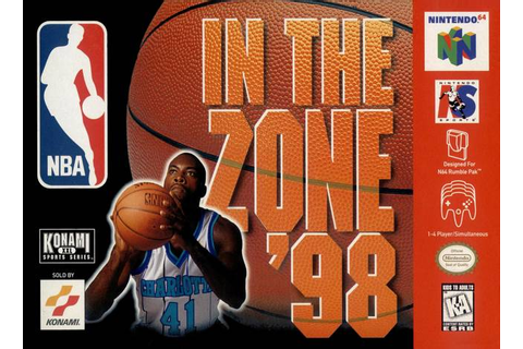 NBA In the Zone '98 Nintendo 64 Game
