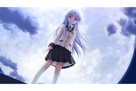 angel beats! clouds game cg key kneehighs long hair na-ga ...