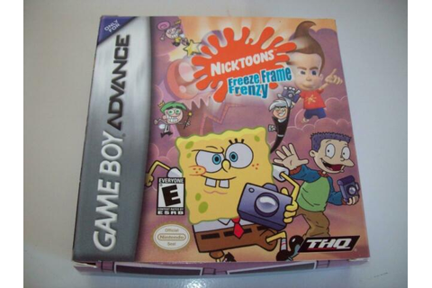 Nicktoons Freeze Frame Frenzy BOX+MANUAL ONLY (Nintendo ...