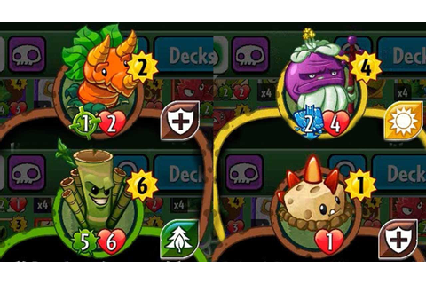 Plants vs Zombies Heroes - Some New Plant Set 3 Cards ...