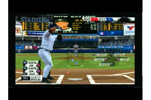 MLB 11 The Show - PS2 Gameplay - Red Sox Vs Yankees Part 2 ...