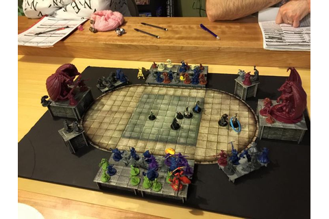Used the 3d tiles to create an arena for the PCs to fight ...
