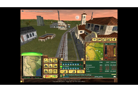 Railroad Tycoon 3 Gameplay - YouTube