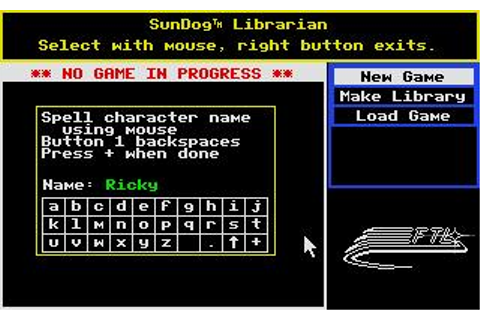 Sundog: Frozen Legacy Download (1985 Role playing Game)