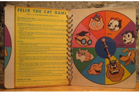 1960 Felix the Cat Board Game SPINNER Spiral Bound Journal