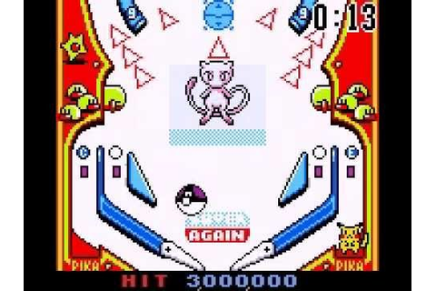 Pokémon Pinball (Game Boy Color) - Mew [second attempt ...