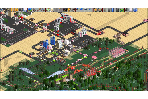 OpenTTD with 32 bit graphics - YouTube