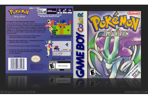 Pokemon Crystal Game Boy Color Box Art Cover by Sergant ...