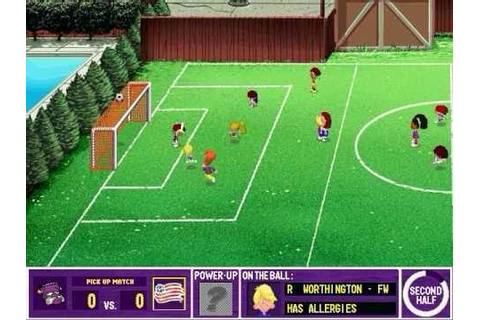 Backyard Soccer: MLS Edition Gameplay - YouTube