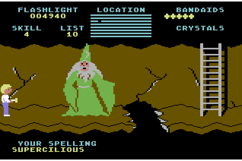 VGJUNK: CAVE OF THE WORD WIZARD (COMMODORE 64)