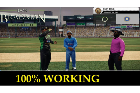 "[100% SURE] DOWNLOAD + INSTALL ""DON BRADMAN CRICKET 14 ..."