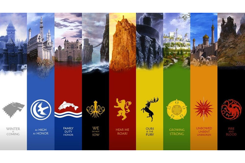 Game of Thrones seven kingdoms map Fabric Art Cloth Poster ...