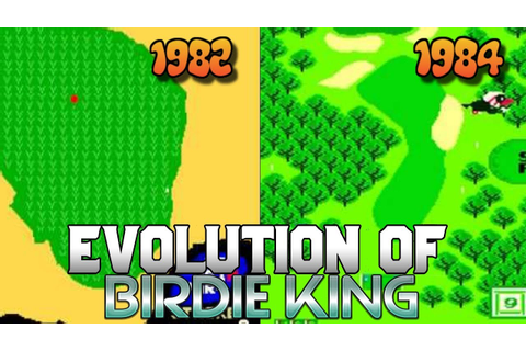 Graphical Evolution of Birdie King (1982-1984) - YouTube