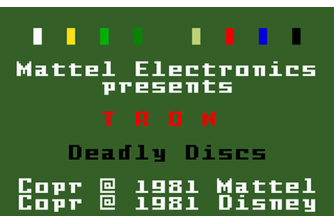 Tron: Deadly Discs Review for Intellivision (1982 ...