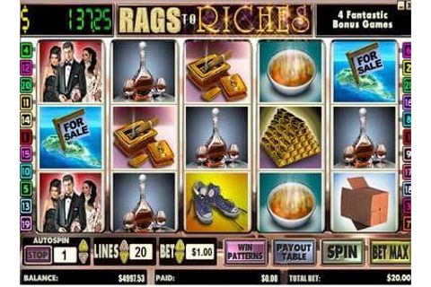 Rags To Riches | Play Rags To Riches Video Slots By Amaya ...