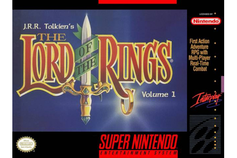 J.R.R. Tolkien's The Lord of the Rings - Volume I (SNES ...