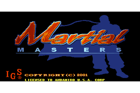 Martial Masters (2001) by IGS Arcade game