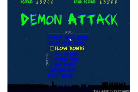 Demon Attack Remake (PC game) - YouTube
