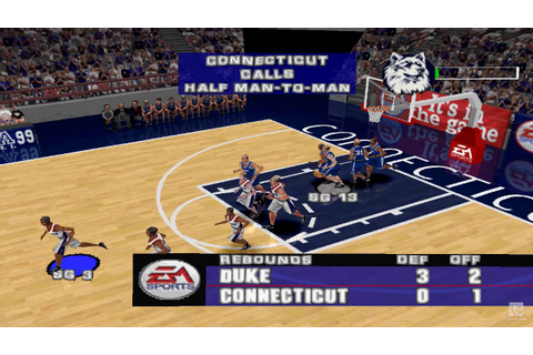 NCAA March Madness 99 PS1 Gameplay HD - YouTube