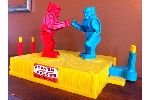 Original Marx Rock 'Em Sock 'Em Robots by Foreverest on Etsy