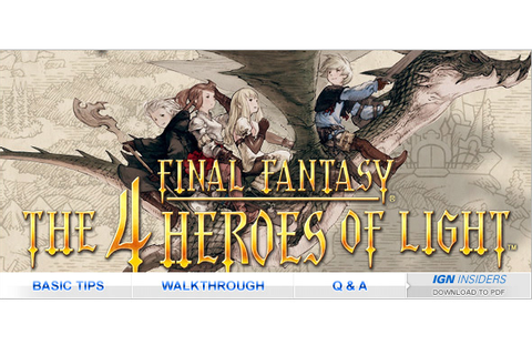 Final Fantasy: The 4 Heroes of Light - ds - Walkthrough ...