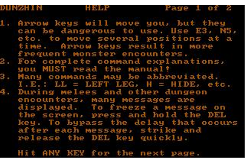 Dunzhin: Warrior of Ras Volume 1 Download (1982 Role playing Game)