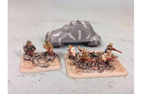 Itty Bitty Soldiers: FoW: Polish AK Kubus Armored Car