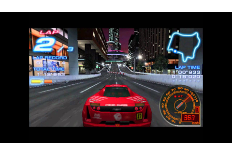 [PSP]Ridge Racer 2-Downtown Rave City - YouTube