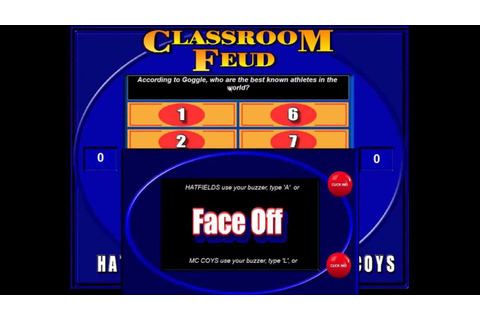 Classroom Feud - Demonstration of a Family Feud style game ...