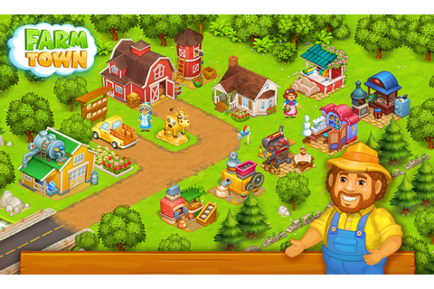 Farm Town: Happy farming Day & top farm game City ...