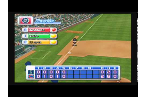 MLB Power Pros 2008 (Wii) World Series Game #2 Mariners ...