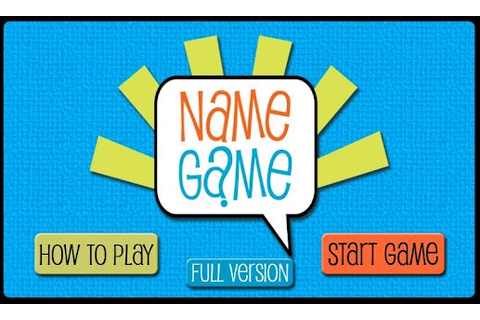 Name Game - Android Apps on Google Play