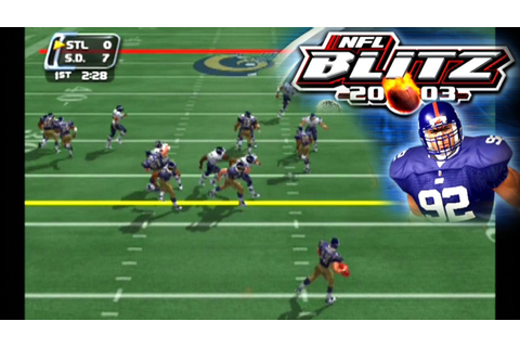 NFL Blitz 2003 ... (PS2) - YouTube