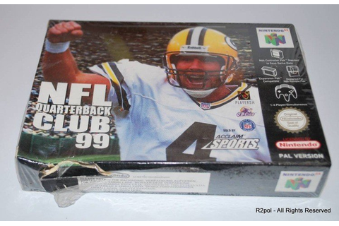 NFL Quarterback Club 99 N64 Nintendo 64 - Brand New SEALED ...