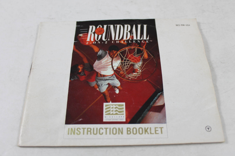 Manual - Roundball 2 On 2 Challenge - Nes Nintendo