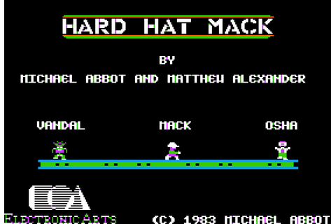 Hard Hat Mack (1983) by Electronic Arts Apple II E game