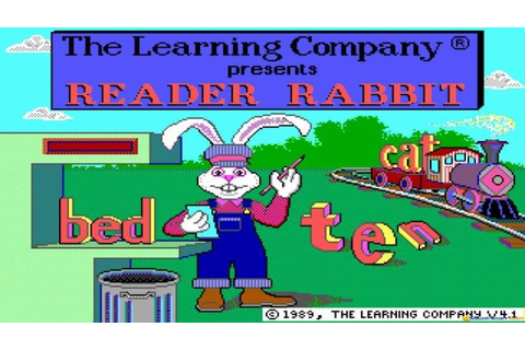 Reader Rabbit gameplay (PC Game, 1987) - YouTube