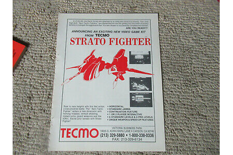 11- 8.5'' STRATO FIGHTER TECMO arcade game AD FLYER | eBay