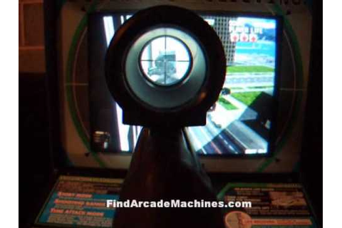 Silent Scope Sniper Rifle Shooting Arcade Machine in Play ...