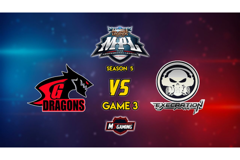 MPL Philippines Season 5 Match 13 Game 3 Execration vs SGD ...