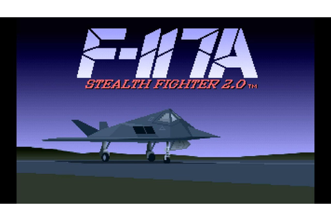 F-117A Stealth Fighter 2.0 Intro ,DOS ,Microprose 1991 ...