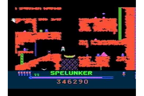 Spelunker - Classic Broderbund game for Atari XL/XE - YouTube